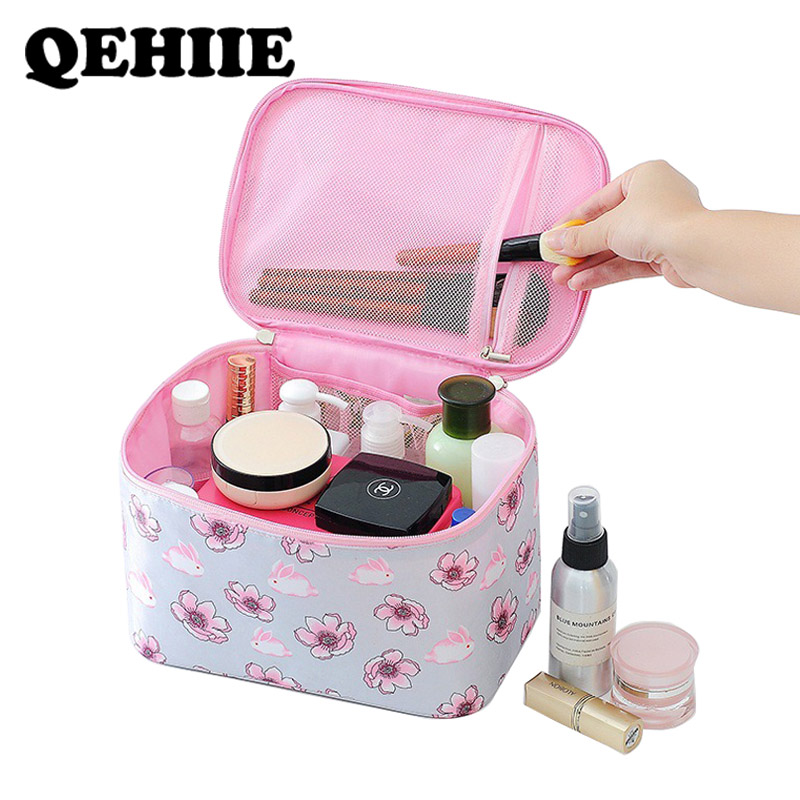 Makeup-Bag Wash-Pouch Beauty-Case Travel-Storage Large-Capacity Waterproof Polyester