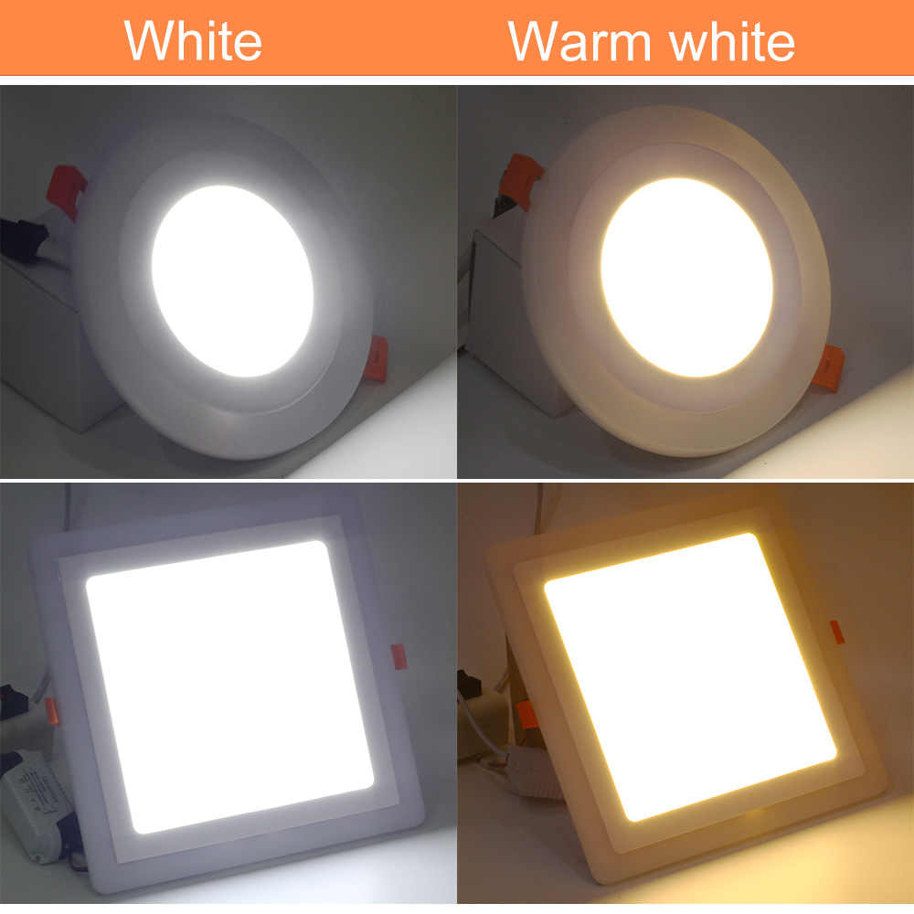 LED Downlight RGBW/RGBWW acrylique panneau lumineux 6 W 9 W 18 W 24 W Ultra mince Surface monté plafonnier AC85-265V