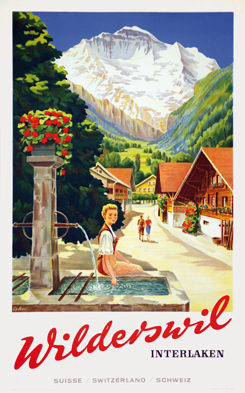 Switzerland Berne Tourism Posters Wilderswil Interlaken Classic Wall Stickers Canvas Painting Vintage Poster Home Bar Decor Gift