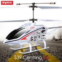 Syma s39 aeronave rc helicóptero 3ch 2.4 ghz com flashing light toys crianças rc aviões de controle remoto giroscópio inquebrável