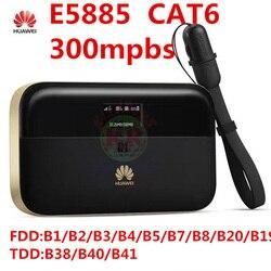Открыл huawei E5885 300 Мбит/с cat6 4G Wi-Fi роутера 4G электронный защитный ключ rj45 usb порт аккумуляторной батареи 6400 мАч Мобильный Wi-Fi PRO 2 pk R5786 e5771