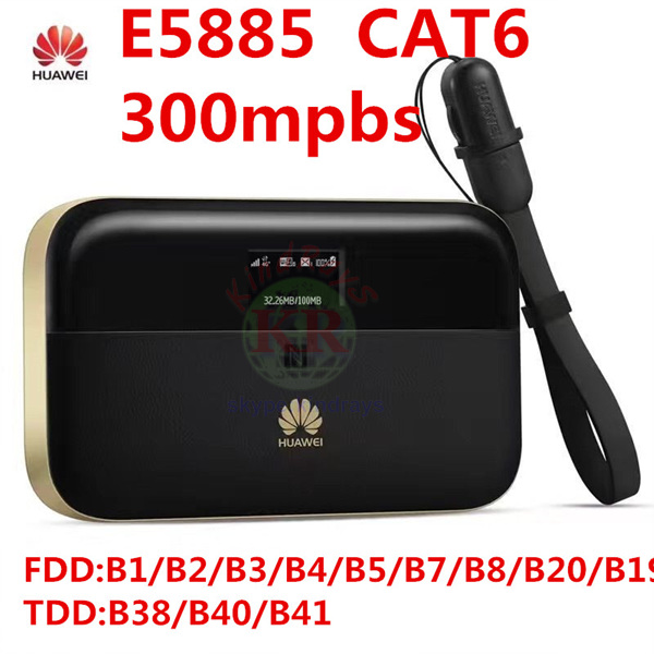 Débloqué Huawei E5885 300 mbps cat6 4g wifi routeur 4g mifi dongle rj45 port usb batterie 6400 mah mobile WiFi PRO 2 pk R5786 e5771