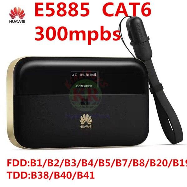 Débloqué Huawei E5885 300 mbps cat6 4g wifi routeur 4g mifi dongle rj45 usb port batterie 6400 mAh WiFi Mobile PRO 2 pk R5786 e5771