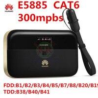 Unlocked Huawei E5885 300mbps Cat6 4g Wifi Router 4g Mifi Dongle Rj45 Usb Port Battery 6400mAh