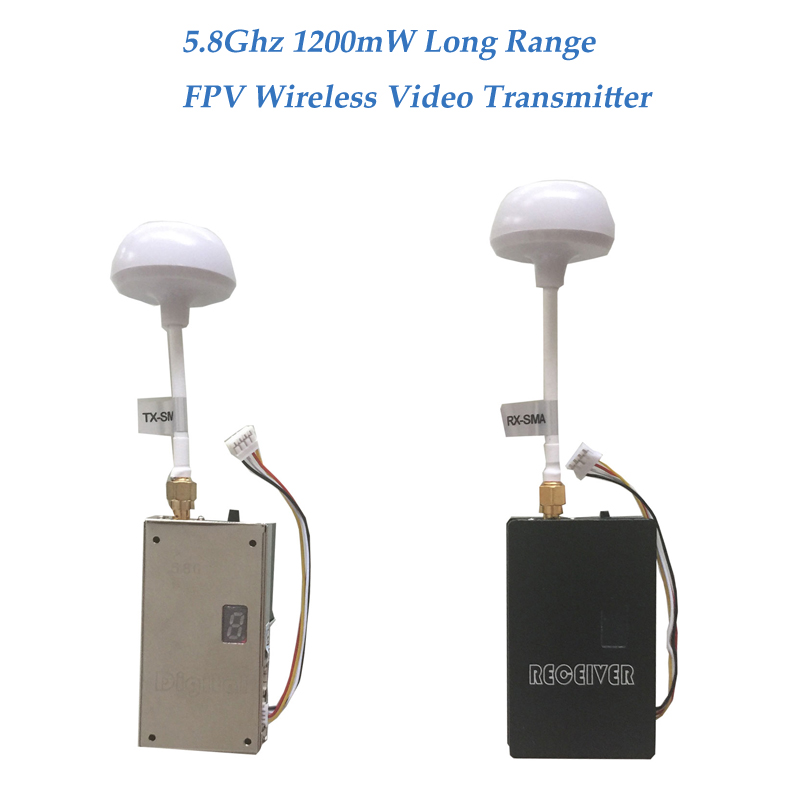 1200mW Video Transmitter and Receiver 5.8Ghz Wireless CCTV Camera System 1000m - 2500m FPV Video Transmitter 5.8G Video Sender