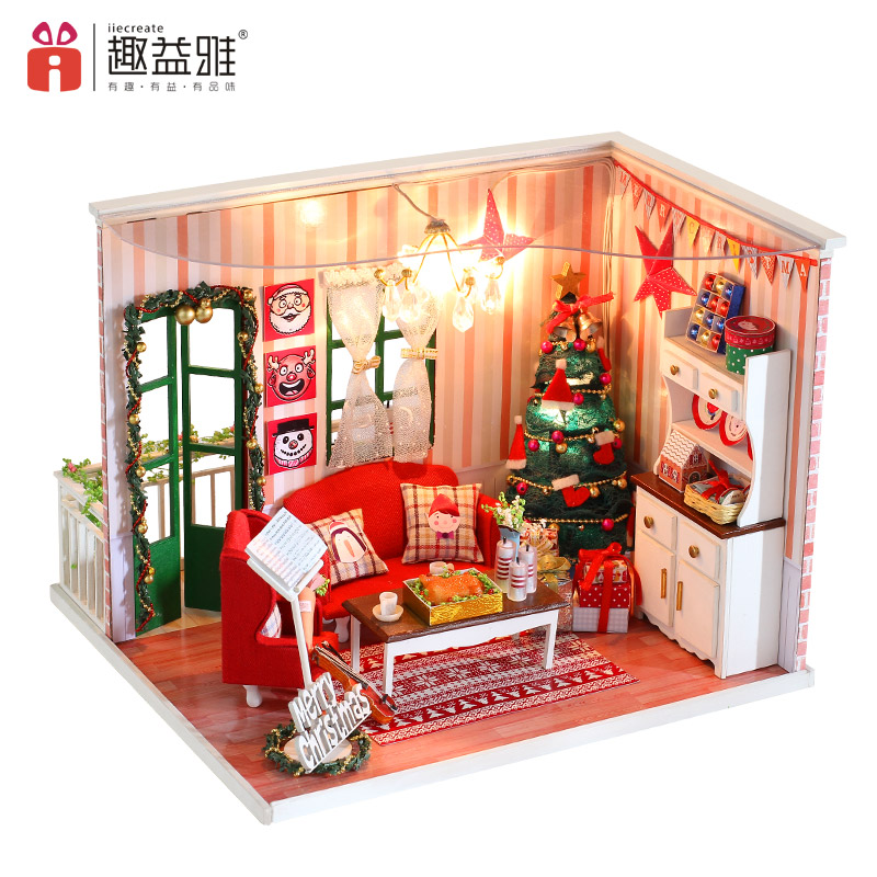 iiE CREATE Furniture DIY Doll House Christmas Gifts Hand Assembled 3D Wooden Models Doll Houses Assemble