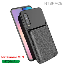 NTSPACE 4700mAh Battery Case For Xiaomi Mi 9 Power Case External Battery Power Bank Charging Case For Xiaomi 9 Charger Cases аксессуар чехол xiaomi silicone case for power bank 2 10000mah blue