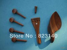 1 Set ROSEWOOD Violin Fitting 4/4, Quality Violin parts with Tail piece, chin rest 4 pegs and end pin