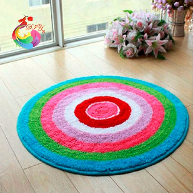 Latch Hook Rug Kits Handmade Carpet Circle Yarn For Knitting Tool Kit In A Suitcase