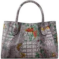 Женские сумки из натуральной кожи для женщин 2019 Новые Роскошные сумка с текстурой под кожу крокодила брендовая сумка женская дизайнерская