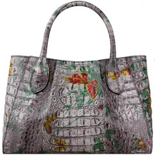 Genuine Leather women bags for women 2019 new luxury crocodile pattern handbag brand bag female bag female designer bag цена в Москве и Питере