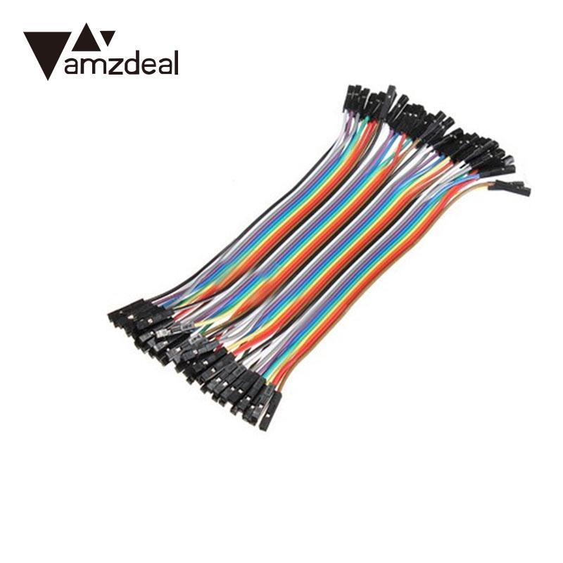 Amzdeal 40 Stücke 10 Cm Feale Auf Buchse Silikon-kautschuk Draht-leitung Linie Stecker Digitale Kabel Datenkabel VerrüCkter Preis Datenkabel