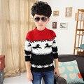 2016 Niños Resorte de la Ropa de Los Muchachos de Nueva Marca Niños de Tejer Suéteres y Cardigans Moda de Algodón Gruesa Ropa de Los Niños Ocasionales