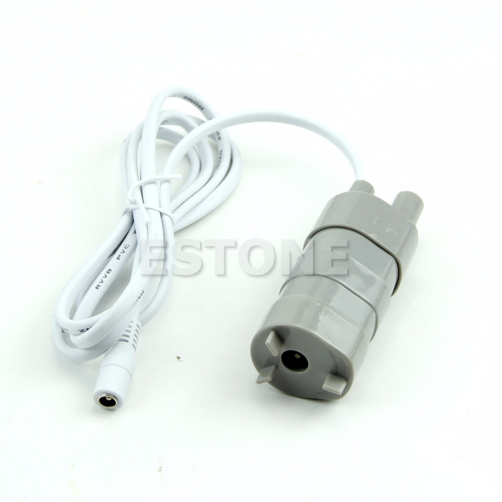 1.2A DC 6-12V Micro Submersible Motor Water Pump 14L/Min 600L/H 5M 5.5x2.1 Female