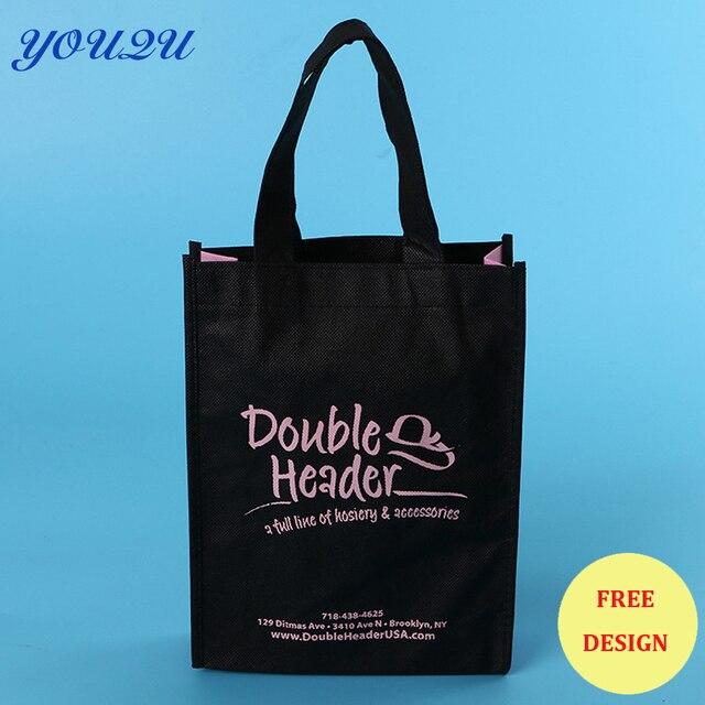 6e4d31df6d83 Customized Cheap Non Woven Shopping Bag printed shopping bag carry bag  +escrow accept