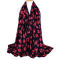 Lady Fashion Flower Pattern Shawl Wrap Woman Scarfs Wraps Scarf Scarves Floral Retro Women Long  Shawl #103
