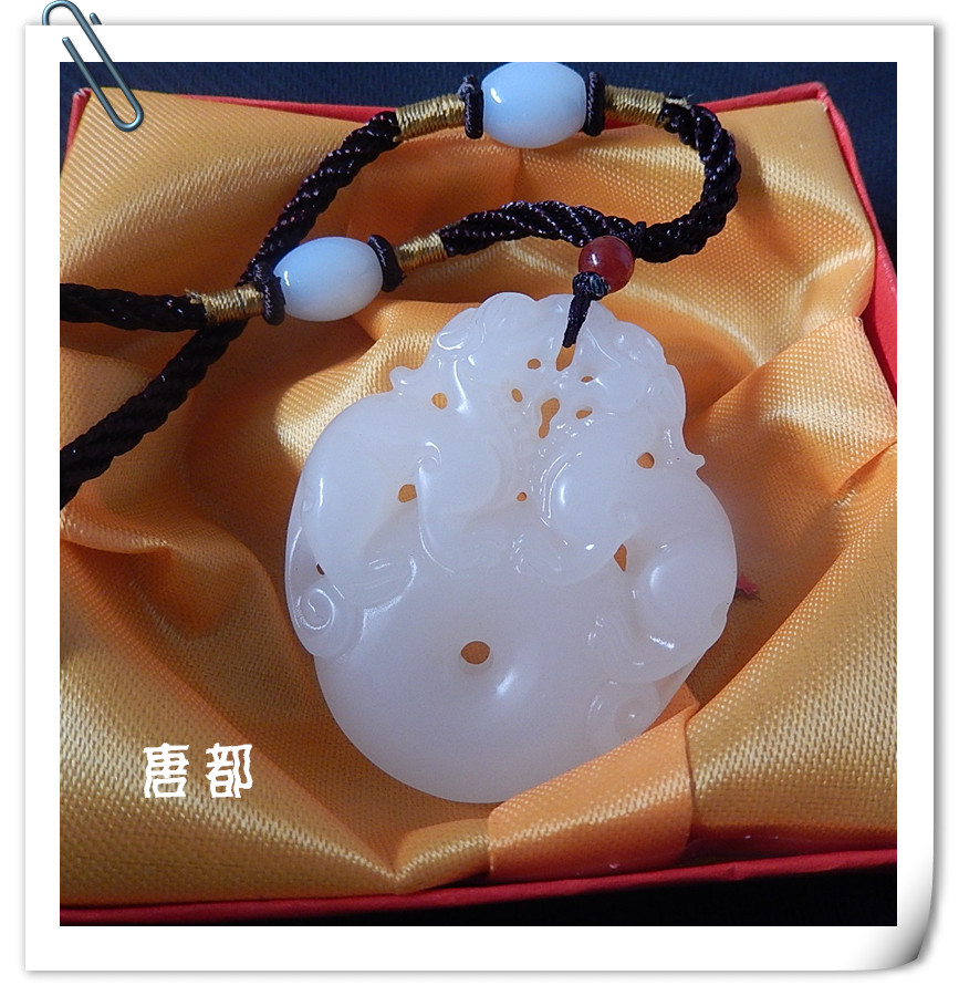 Pure natural jade exquisite single brave lucky Jewelry Necklace ...