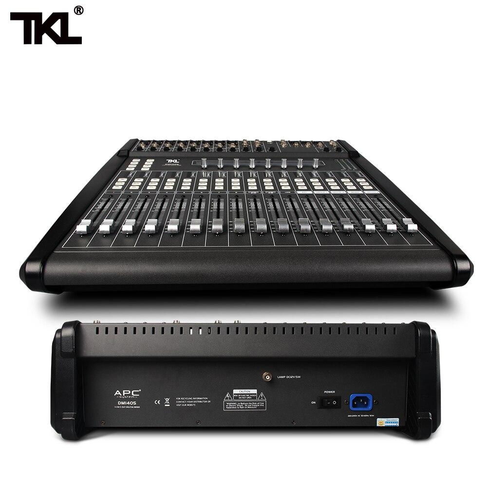 TKL 14 Channels Digital Mixer Professional DJ Sound Mixer Audio Belt Effect Mechanical Pusher Preset Scene For Stage HIFI DJ - 2