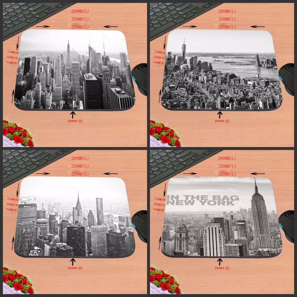 In The Bag New York Top Selling New Arrival 18*22cm/25*20*cm/25*29cm Rubber Mouse Pad Computer Gaming Mouse Pad Gamer Play Mats