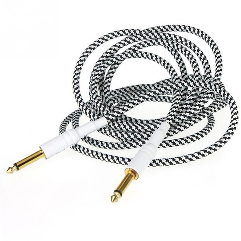 Guitar Woven Cables Cord Lead For Electric Guitar Bass Guitar Instrument Accessories roland gk 3 divided pickup for bass guitar electric guitar