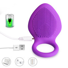 Purple Color 10 Speed Penis Ring Vibrator