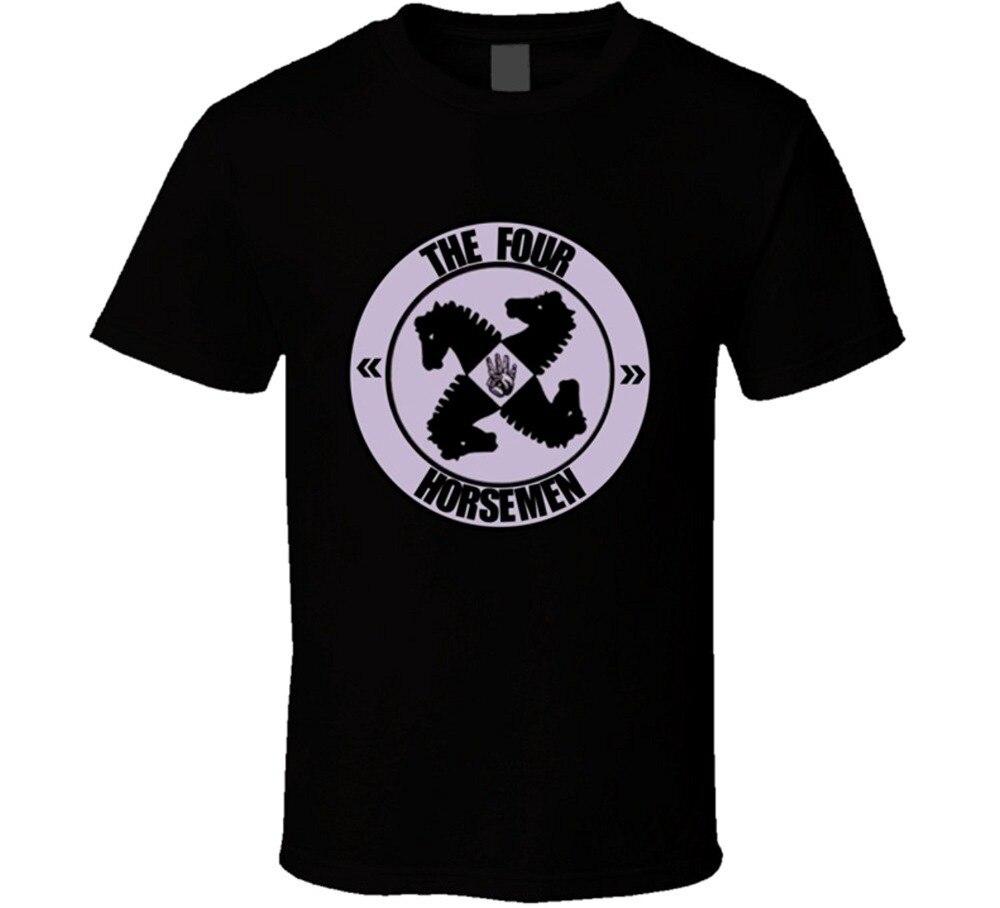 2018 New Fashion Brand Clothing Design Tee Shirt The Four Horsemen Retro Lo WCW Wrestling T Shirt Hip-Hop Tops Tees