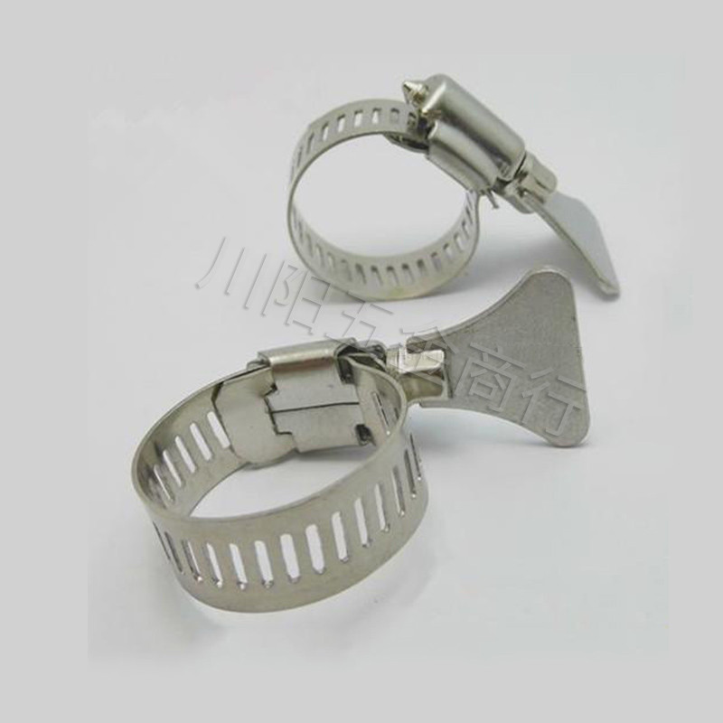 10pcs Big Size American Type Hose Clamps Worm SS304