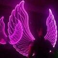 SAOMAI Costume de Natal Piscando LED Grande Colorido Asas Traje, Dança acessórios vestido, festa show de traje desempenho