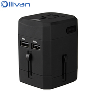 Ollivan Universal Travel Adapter International Plug Adaptor 2 5A Electric Socket Charger Multinational Converter Switch Plug