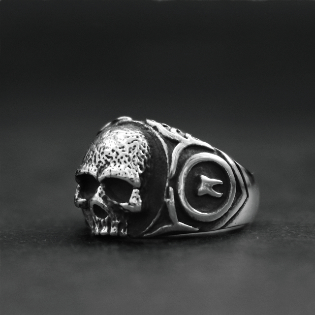 STAINLESS STEEL BIKER SKULL RINGS
