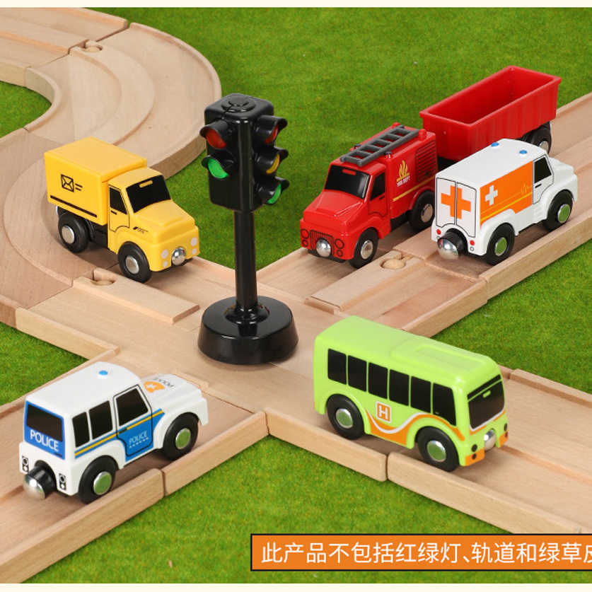variety of optional rail car utility vehicles aircraft compatible with wooden tracks of  Brio trains Children car toy