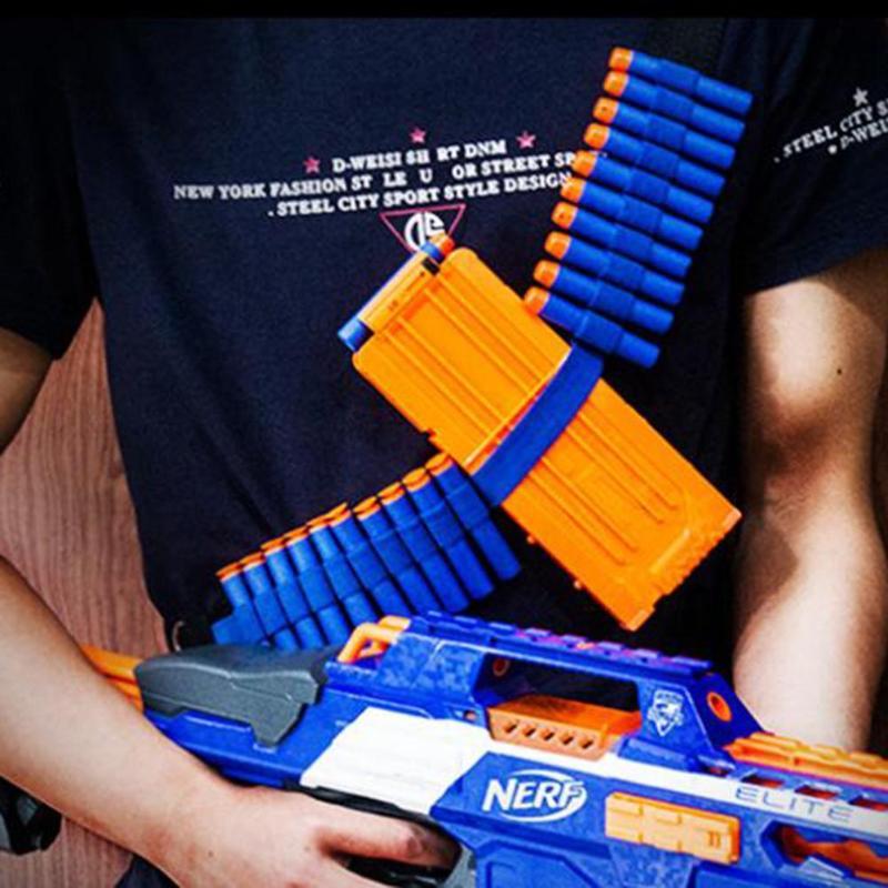 Metal Kids Toy Gun Bullet Belt Shoulder Strap Dart Storage Holder Paintball For Nerf Soft Water Bandolier Gun Toy