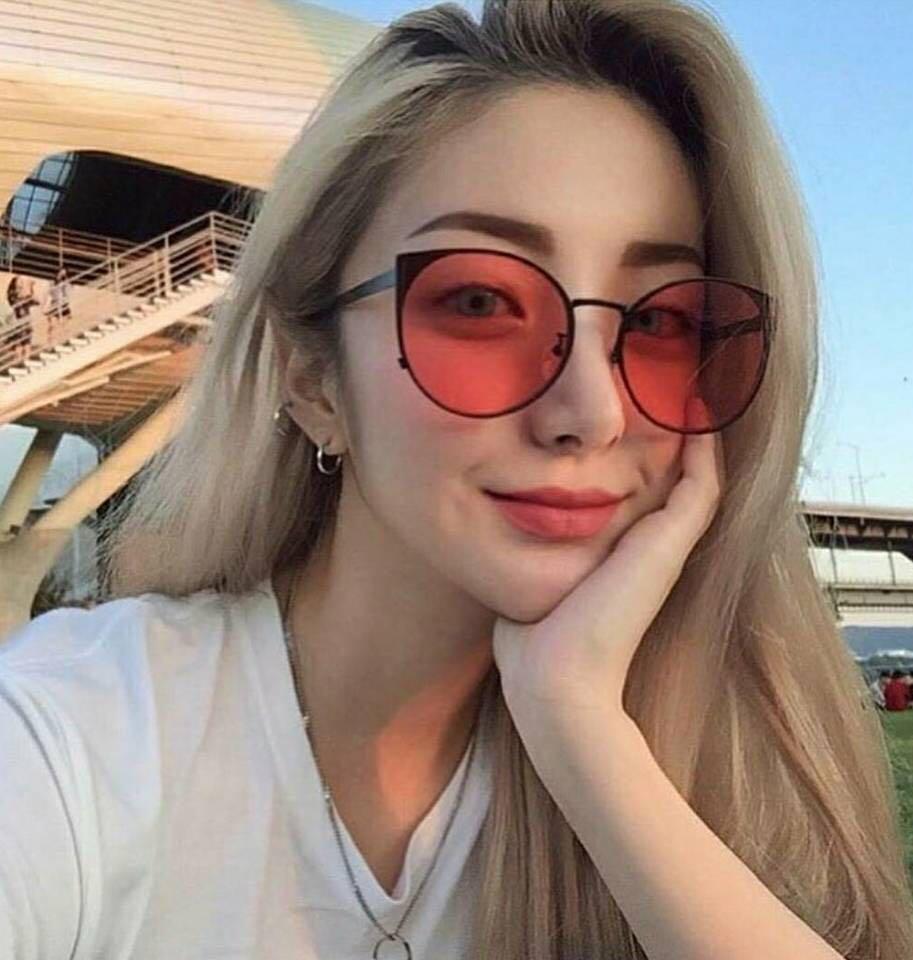 05fc7932a3 Sella Fashion Women Summer Vintage Cateye Reflective Sunglasses ...