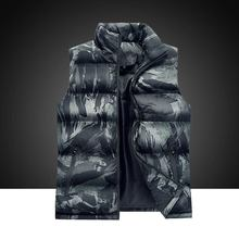 Down jackets for men Casual Regular Standard camouflage Sleeveless Warm Simple Duck Feather Jacket Coat Mens ABC9839
