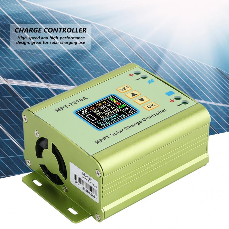 MPT 7210A Solar Charge Controller Aluminum Alloy LCD MPPT Solar Panel Charge Controller for Lithium Battery battery pack