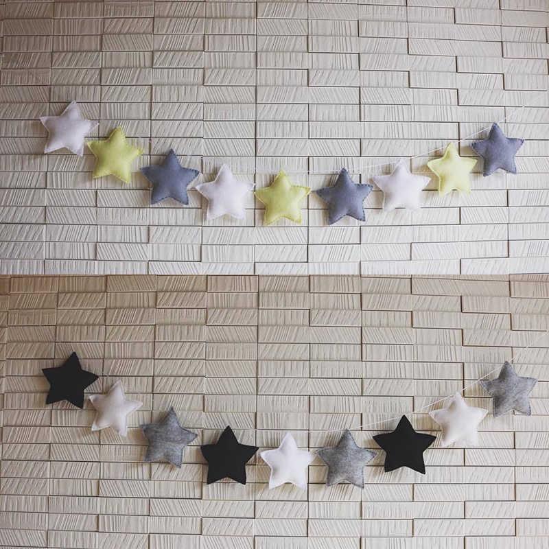 5 כוכב יח'\סט באנרים דגלון קיר בסגנון נורדי תליית גרלנד לילדים חדר ילדים קישוט ומתנות קישוט אמנות תכשיט