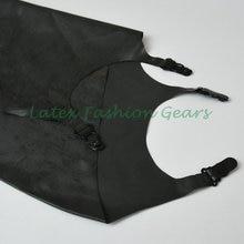 Black latex exotic dress rubber suspender belts clubwear