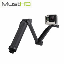 Promo offer MustHD 3 Way Extendable Foldable Handheld Grip Telescopic Selfie Stick Adjustable Monopod for GoPro Hero, SJCAM Action Camera