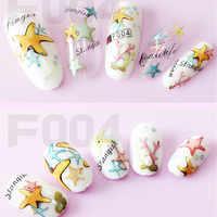 1 hoja 3D pegatinas impermeables ultrafinas nuevo diseño de moda de simulación pegatinas de uñas 3D calcomanías decoración de uñas