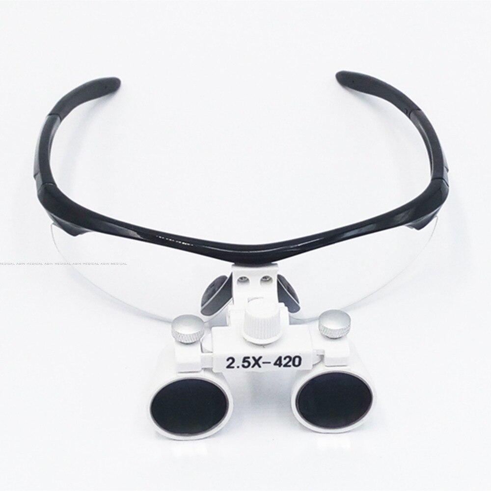 2 5X Anti fog magnify dental magnifier medical equipment antifog loupes optical glasses Dentist 2 5