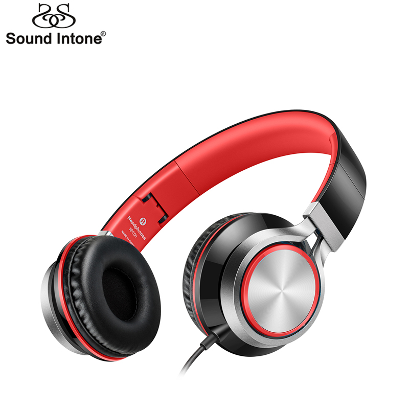 Sound Intone HD200 Wired Headphones with Microphone Lightweight Foldable Headphone Stereo Headsets for Computer PC MP3 Headphone new wired headphone stereo bass headset with microphone lightweight foldable design 3 5 mm for computer smartphone pc gamer