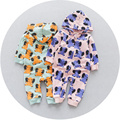 2017 New Spring Cotton Baby Romper Baby Girl Newborn Clothes Long Sleeve Character Elephant Pattern Hooded Baby Girl Costume
