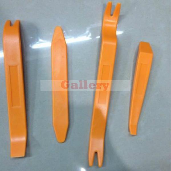 Купить с кэшбэком 12 Pcs Set Plastic Car Radio Door Clip Panel Trim Dash Audio Removal Pry Repairing Tool 2din Car Radio Hand Tools Leather