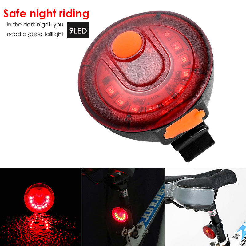 Cycling USB Taillight Mountain <font><b>Bike</b></font> Warning <font><b>Light</b></font> Rechargeable 150 <font><b>Lm</b></font> Black Red Park Accessories 9 LED Travel image