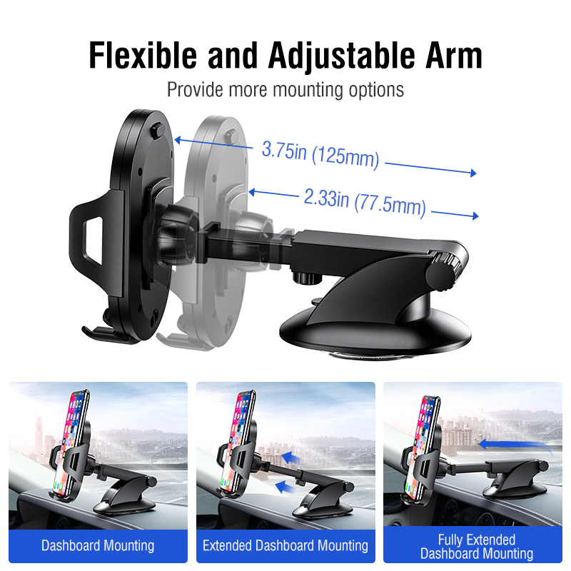 Ugreen Car Phone Holder No Magnetic Gravity Stand in the Car Suction Cup Support Holder for Your Mobile Phone 2