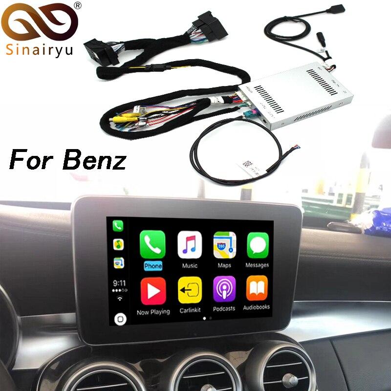 2018 New IOS Car Apple Airplay Android Auto CarPlay Box For Benz A B C CLA GLA GLC GLE Class 15 17 NTG 5.0 OS System