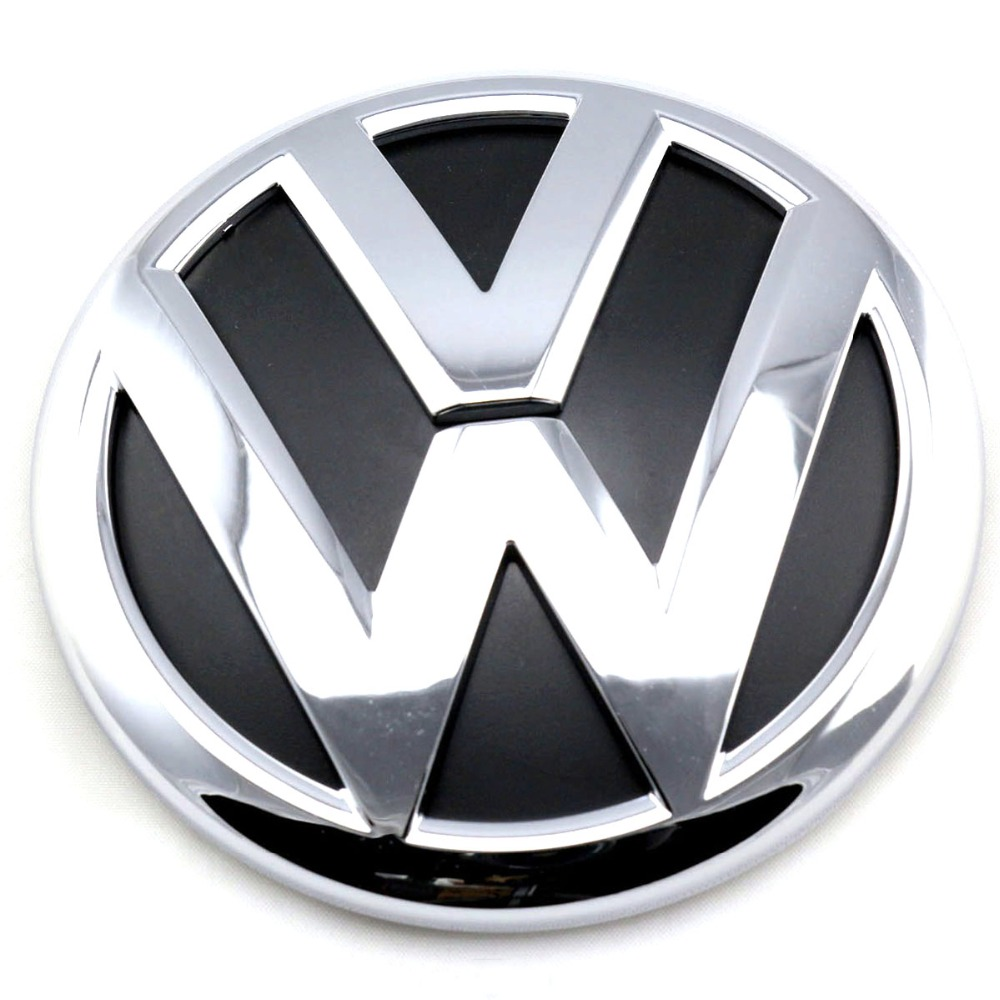 100mm OEM Rear Trunk Lid Badge Emblem Chrome Logo Car Sticker For VW Volkswagen Jetta MK6 VI Polo Passat Variant 5C6 853 630 ULM soarhorse car rear trunk lid emblem badge nameplate decal for chevrolet cruze letters logo sticker