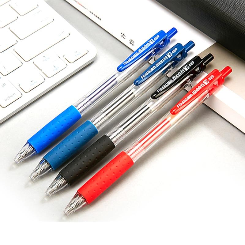 12pcs Bullet Retractable Neutral Pen 0.5mm Gel Pen School and Office Supplies Classic Spring Signature Pen