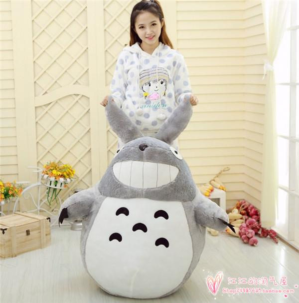 stuffed toy largest 140cm cute totoro plush toy hugging pillow ,Christmas gift h738 free shipping about 60cm cartoon totoro plush toy dark grey totoro doll throw pillow christmas gift w4704