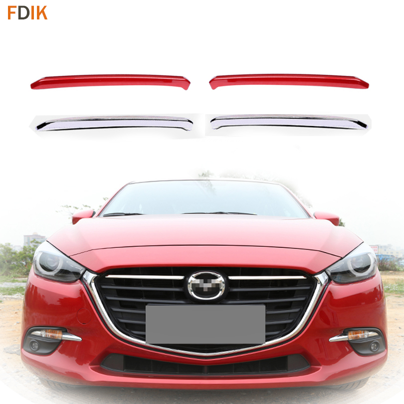 Front Bumper <font><b>Engine</b></font> Hood Grille Grill Insert Mesh <font><b>Cover</b></font> Molding Trim Garnish Decoration for <font><b>Mazda</b></font> <font><b>3</b></font> AXELA 2017 2018 image